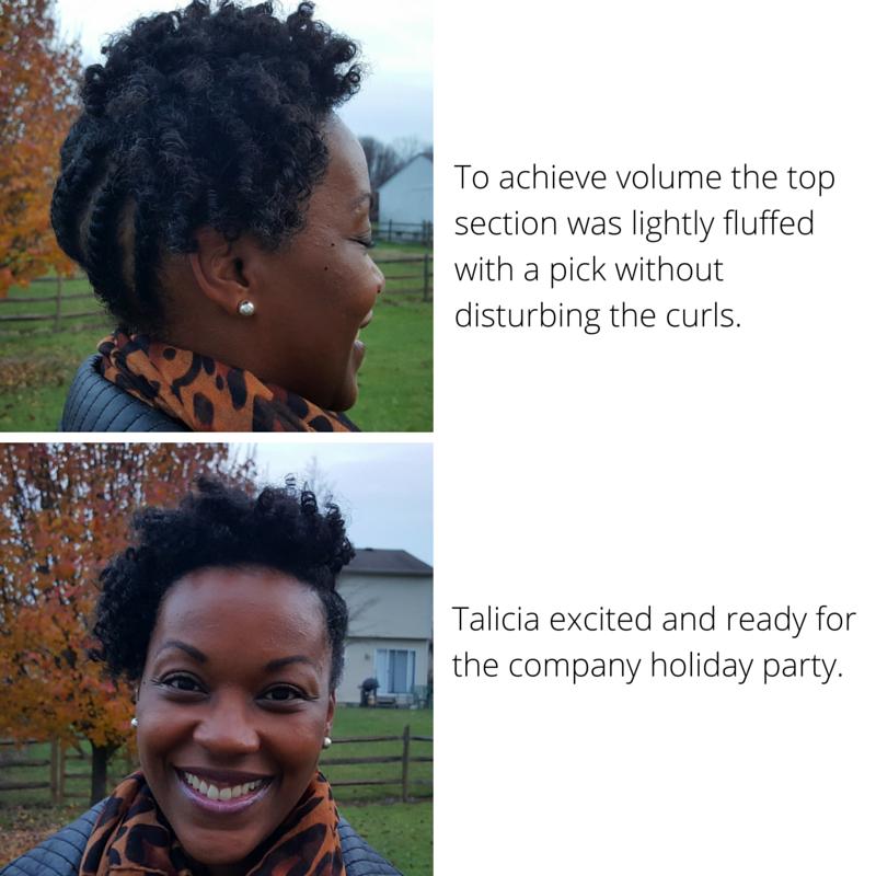 Holiday Natural Hair Style