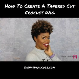 Tapered Cut Crochet Wig