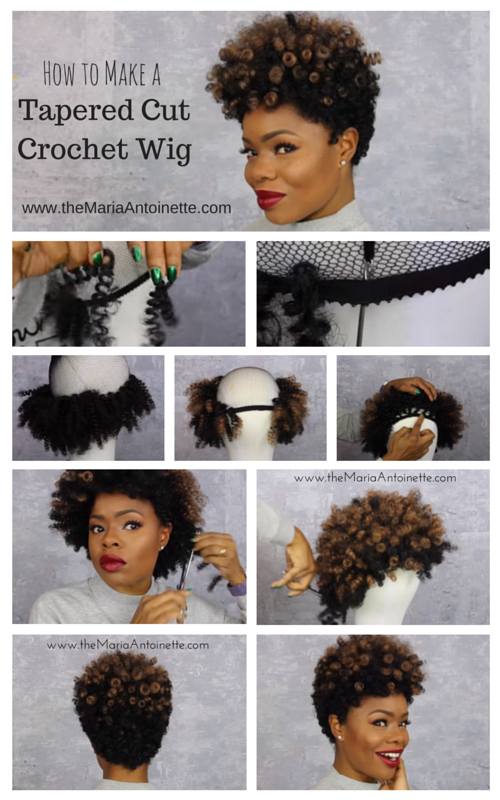 How To Create A Tapered Cut Crochet Wig The Natural Cole