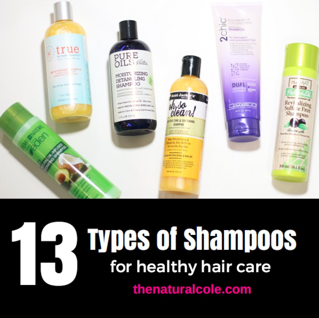 Thirteen Types of Shampoos