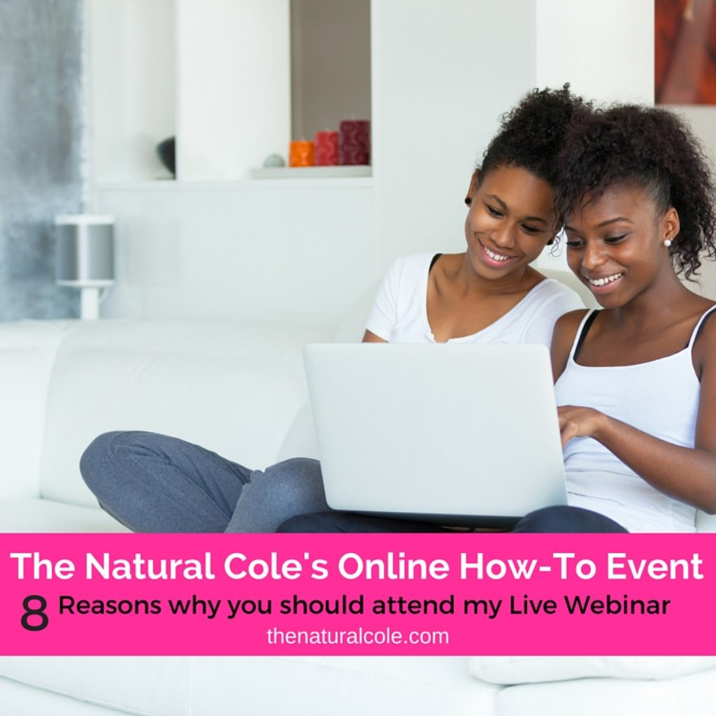 8 reasons to attend The Natural Cole's live webinar